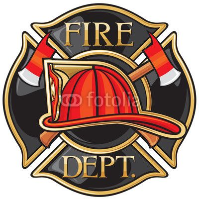 Wall Mural fire department or firefighters maltese cross symbol - alarm • PIXERSIZE.com