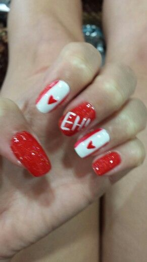 Canada Day Nails