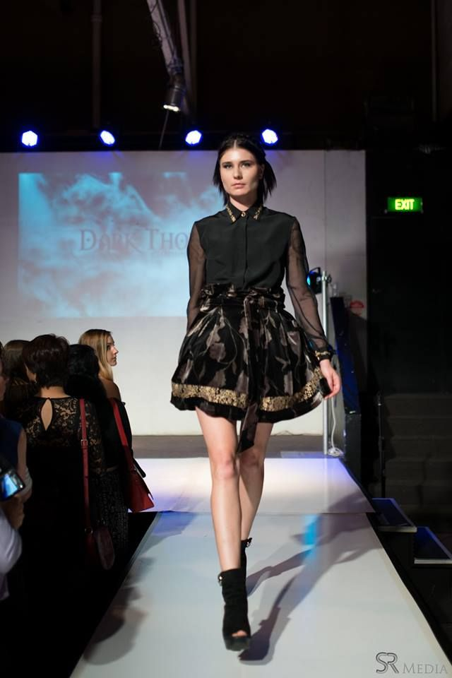 Raw Adelaide Signature 1.04.2016  Katya on the runway in the Abigail blouse and the Genevieve skirt  Photography: SR Media Hair: Caitlan Prater Makeup: Tiarna Lehmann  ABIGAIL: http://www.darkthornclothing.com/collections/rebirth/products/abigail-blouse-limited GENEVIEVE: http://www.darkthornclothing.com/collections/rebirth/products/genevieve-skirt