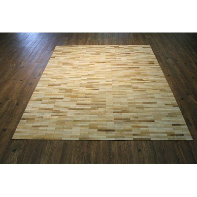 17 Stories Tommen Hand-Woven Beige Area Rug