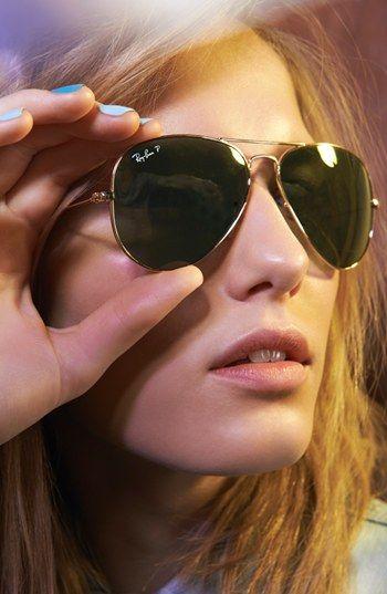 Shade it! Ray-Ban Original Aviator 58mm Polarized Sunglasses