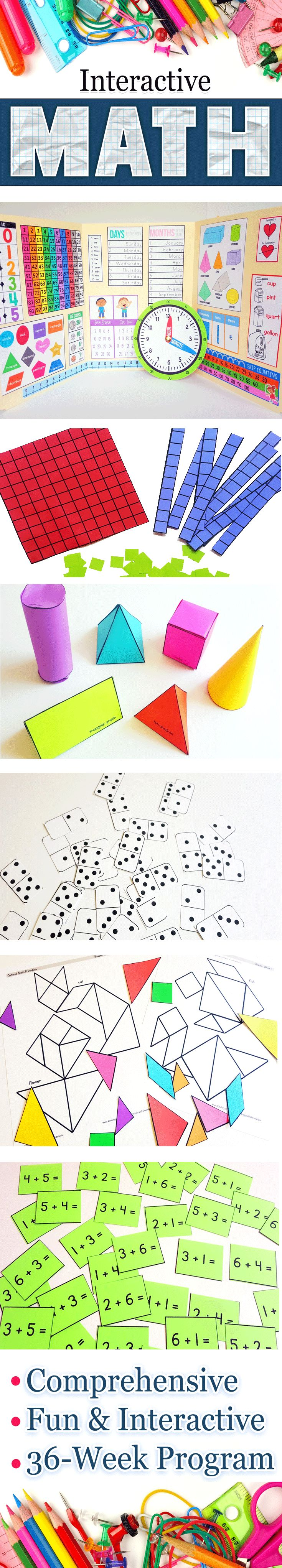 Hands-on, Interactive Math program for Kindergarten. Homeschool Curriculum or Standard Classroom. https://craftyclassroom.com/product-category/math/