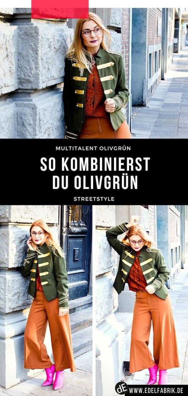 So Kombinierst Du Olivgrün Was Passt Zu Oliv Grün Look Style
