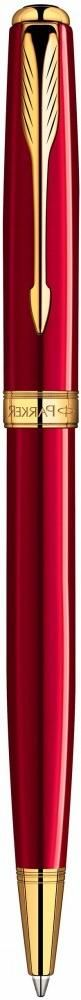 Шариковая ручка поворотная Parker Sonnet k539 Lacquer Red Gt черный 1859472