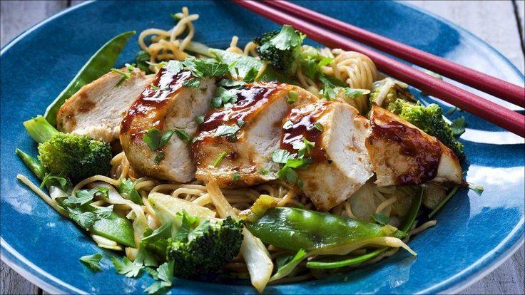 Kinesisk kylling med nudler