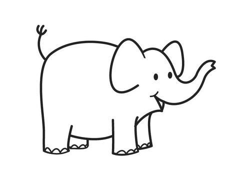 Kleurplaat olifant - elephant | ellie love | Pinterest | Elephant ...