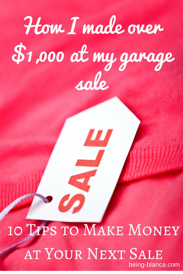 Make the most of your next garage sale! Using these 10 tips I have consistently made big bucks at my garage sales. Earn more yourself with these tricks! Being-Bianca.com