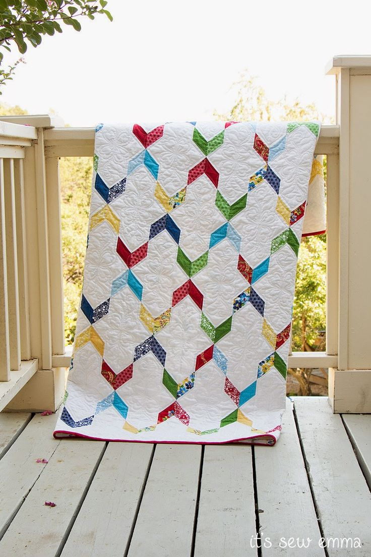 The Streamers quilt, by Planted Seed Design - Fat Quarter Shop's Jolly Jabber
