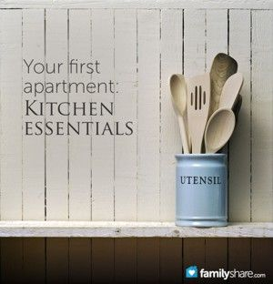 30 kitchen essentials for your first apartment