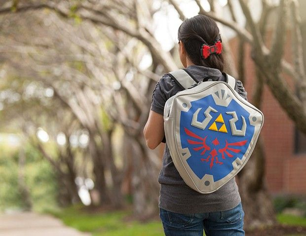 Buy a Legend Of Zelda Shield Backpack here! Be Link, and take on Ganondorf with this awesome backpack!