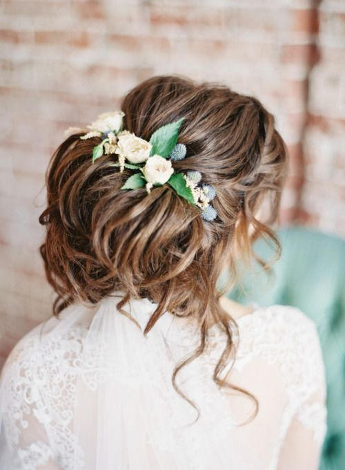 Bridal Hairstyle With Rose : 169 best flowers in her hair ~ brides images on pinterest