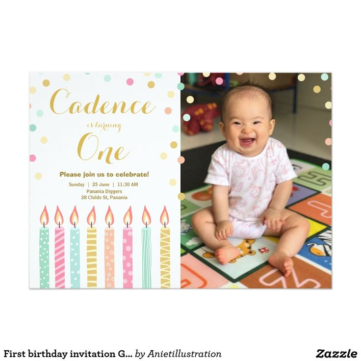 7 best First Birthday images on Pinterest | Birthday invitations ...