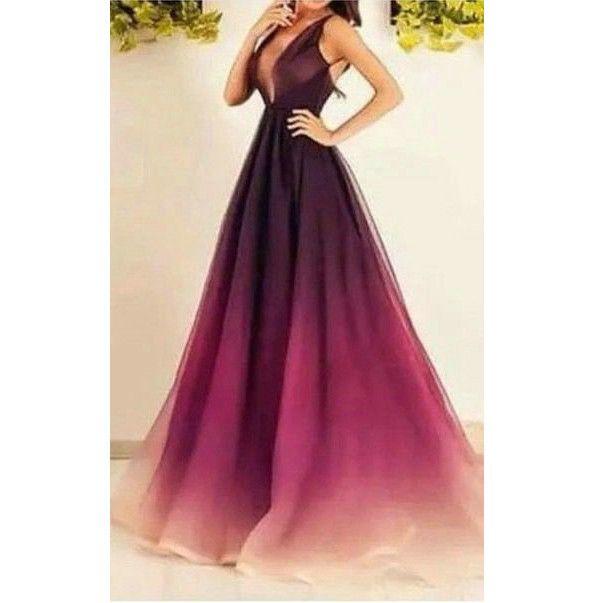 Gradient Prom Dresses Floor Length pst0309