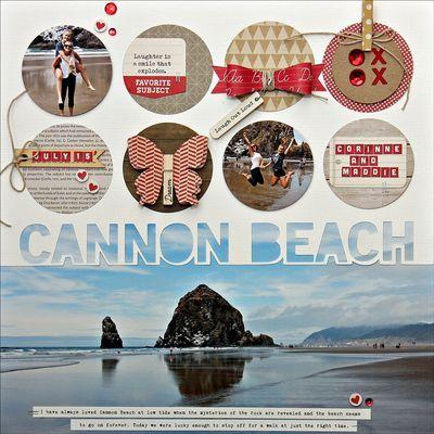 #papercrafting #scrapbook #layout - Summer-JBS-Cannon-Beach