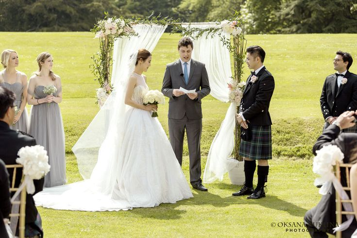 Ariel & Marcus's wedding at Oxenfoord Castle in Scotland by © Oksana Kuklina Edinburgh Wedding Photographer