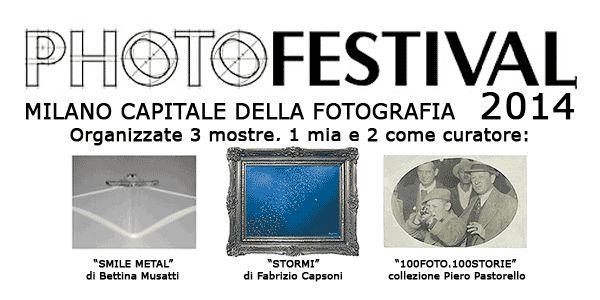 """Capsoni at PhotoFestival 2014 in Milan Dal 29 aprile al 16 giugno 2014 MILANO diventa """"Capitale della Fotografia"""" grazie a PHOTOFESTIVAL 2014, con ben 150 Mostre sparse per la città. Fabrizio Capsoni ne ha organizzate tre, una propria come autore e altre due come curatore."""