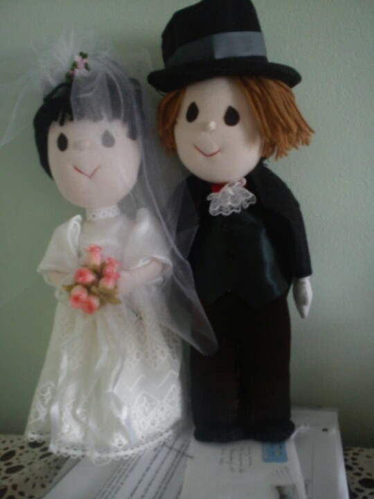 wedding dolls for my friend completed today