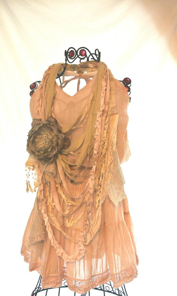 Boho Chic halter Dress bohemian girl beach by TrueRebelClothing, $64.00