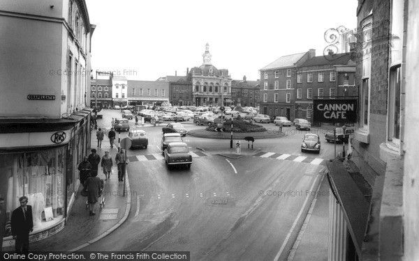 Retford, Market Square c.1965, from Francis Frith