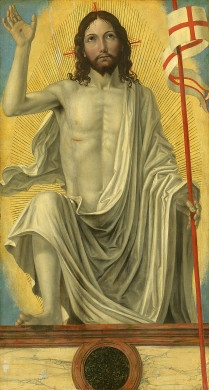 Christ Risen from the Tomb by Bergognone, Italian painter c.1453-1523, Samuel H. Kress Collection, National Gallery of Art, Washington DC, USA.