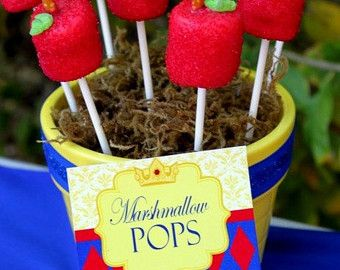 """Snow White Party Decoration Ideas   Snow White Party - """"The Faires t of them All"""" Collection - Food Labels ..."""