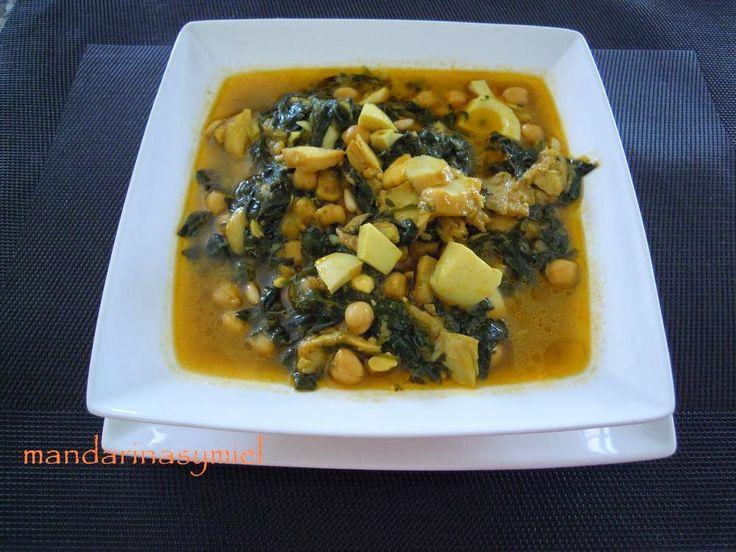 Potaje de garbanzos espinacas y bacalao soups sopas y - Potaje de garbanzos con bacalao ...