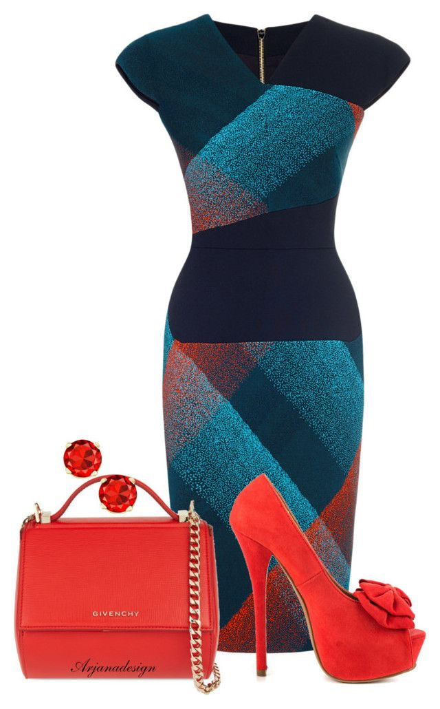"""ROLAND MOURET DRESS"" by arjanadesign ❤ liked on Polyvore featuring Roland Mouret, JustFabulous, Givenchy and RolandMouret"
