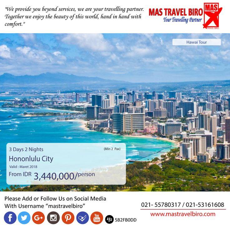 Traveling Ke Hawai - Hononlulu City  Mas Travel Biro punya promo tour Wanderful Jogja. 3 Hari 2 Malam dengan harga Rp 3.440.000  Buruan booking dan Hubungi👇 Phone : 021 55780317 WA : 081298856950 Email : tourhotel.metos@mastravelbiro.com  #mastravelbiro #promotravel #travelagent #tourtravel #usa #hawai #hononlulu