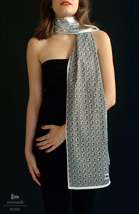noorsaab | Lookbook 08 | Darwish luxury scarf | Handwoven silk and hand printed