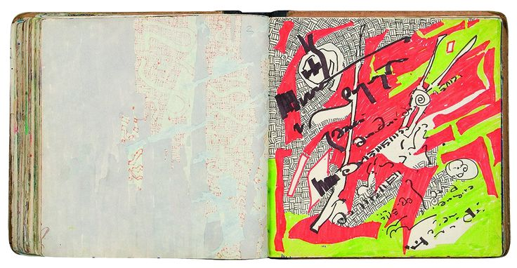 Yiğit Yazıcı 1990-1992 colored painted and illustrated Sketch Books