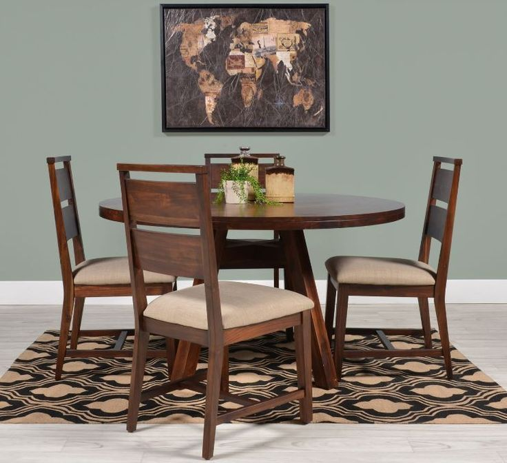 Featuring Solid Wood Construction And A Rich Walnut Finish The Blake II Dining Collection Creates