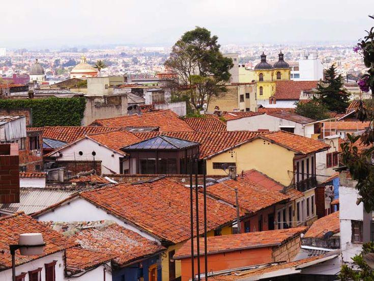 7. Vista de los techos de las casas de la Candelaria, desde la Universidad Externado de Colombia
