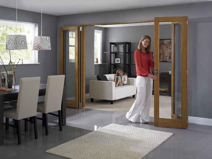 Open Lifestyle Shot Of The Inspire Internal Room Divider Doors