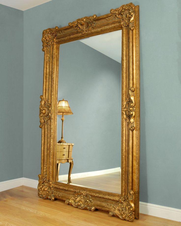 C M Bridgewater Large Gold Framed Leaner Mirror Gold Floor Mirror Gold Mirror Living Room Leaner Mirror
