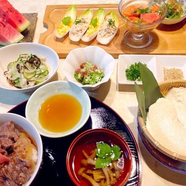 牛丼とおぼろ豆腐で晩御飯 - 28件のもぐもぐ - 8月20日の晩御飯 by sippolove