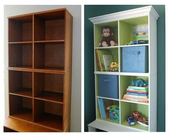 add crown molding to a bookshelf