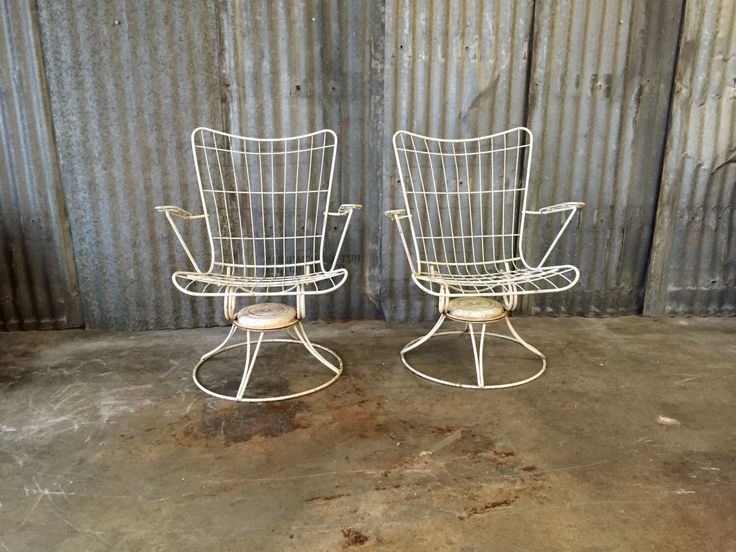 Midcentury Patio Chairs / Homecrest / Vintage Rocking Chair / Pair / 1960s / Swivel Chair / Vintage Furniture by SurgeATX on Etsy https://www.etsy.com/listing/274365708/midcentury-patio-chairs-homecrest