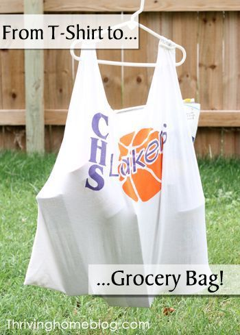 Reusable grocery bags old t shirts and grocery bags on for Reusable t shirt bags