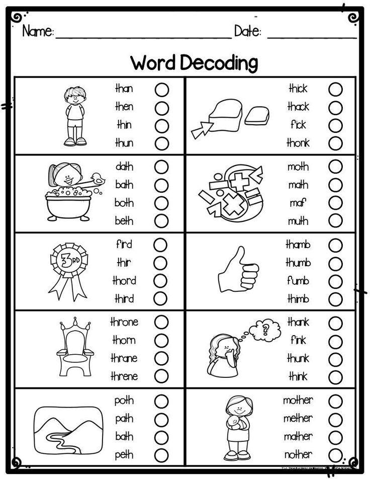 Kindergarten Word Decoding Practice Assessment Worksheets For Kindergarten Special In 2020 Kindergarten Worksheets Kindergarten Worksheets Printable Decoding Words