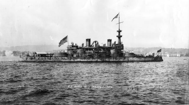 Spanish-American War: USS Massachusetts (BB-2)
