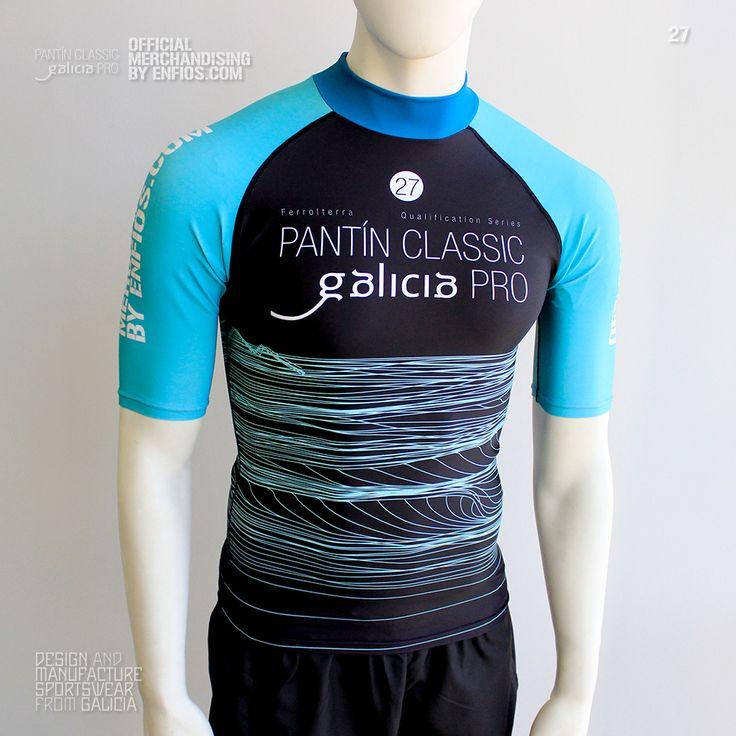 Camiseta competición en lycra oficial PANTIN CLASSIC PRO, evento 27 en color verde y negro.  Venta exclusiva del producto en el evento oficial y tienda oficial online.