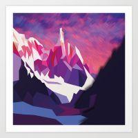 Night Mountains No. 12 Art Print