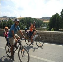 Um belo passeio de bicicleta em família