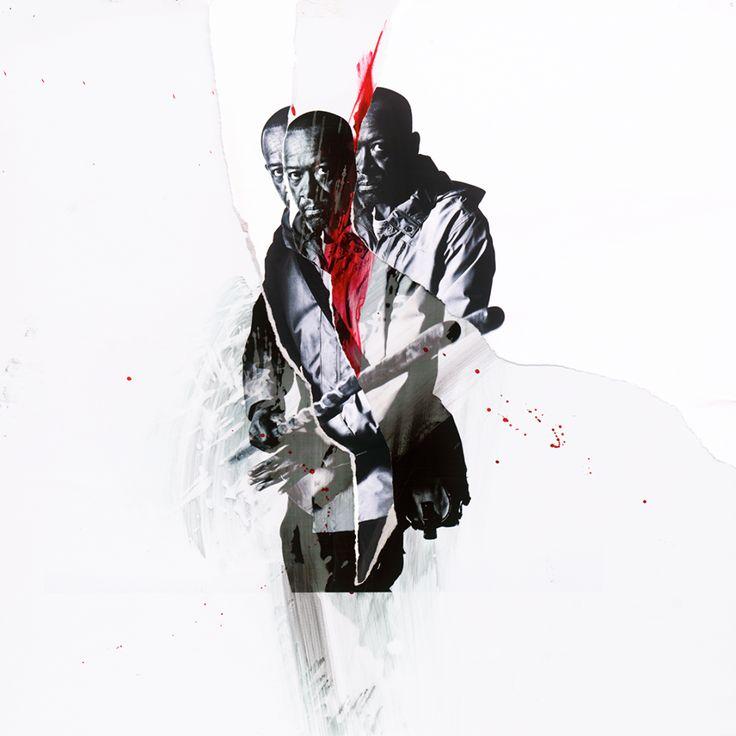 The Walking Dead picha Season 7B Character Portrait ~ Morgan Jones HD karatasi la kupamba ukuta and background picha