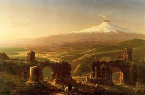 Mount Aetna from Taormina - Thomas Cole