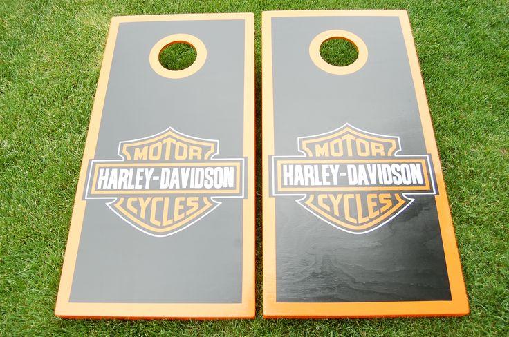 Harley-Davidson cornhole boards.