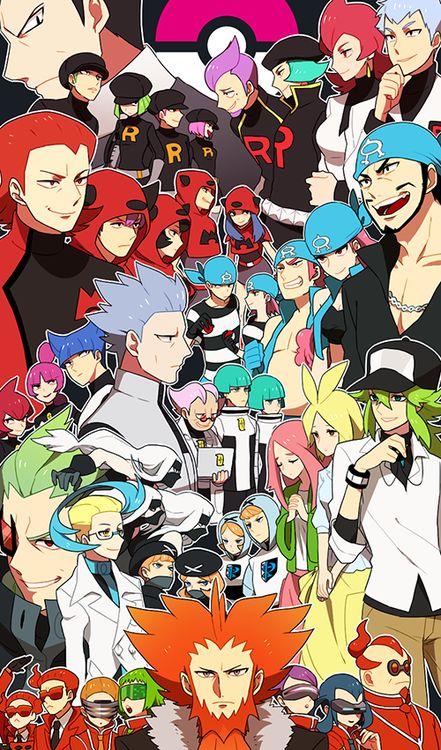 Pokemon l. All the villainous teams