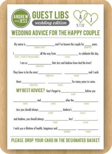 Forget the usual wedding guest books. Here you wi