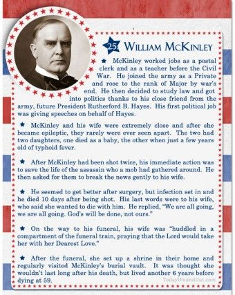 17 best images about william mckinley on pinterest for American history trivia facts