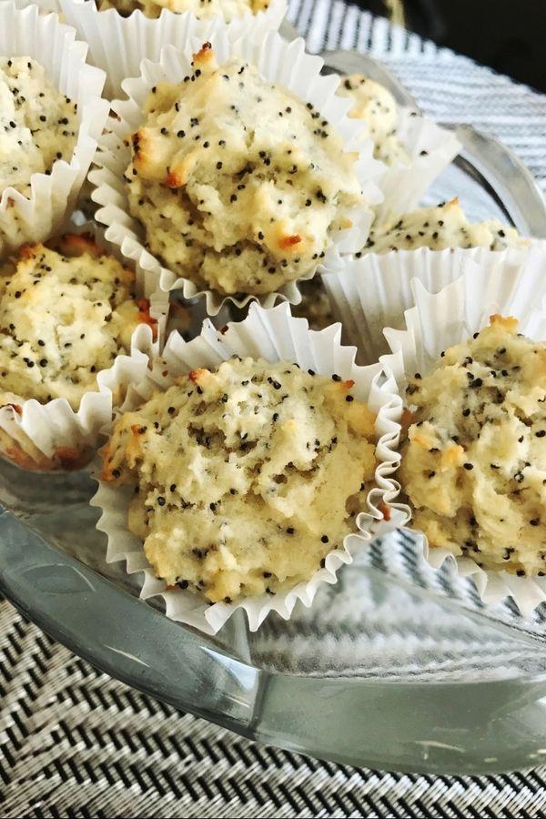 Mini Lemon Poppy Seed Muffins! #minidesserts #recipe #minimuffins #lemon #poppyseed #weightlossjourney #bake #portioncontrol #yummy #treat #muffin #sharicreates